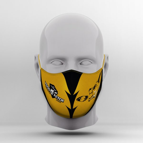 K9 Frisbee Black & Gold Mask